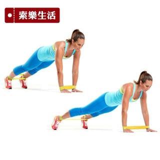 【索樂生活】瑜珈伸展健身訓練環狀阻力帶黃色(彈力帶 健身阻力帶 乳膠彈力帶 彈力訓練帶 復健 運動 瘦身)