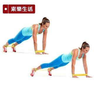 【索樂生活】瑜珈伸展健身訓練環狀阻力帶黃色(彈力帶