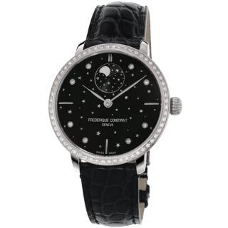 【康斯登 FREDERIQUE CONSTANT】自製機芯超薄月相星腕錶(FC-701BSD3SD6)