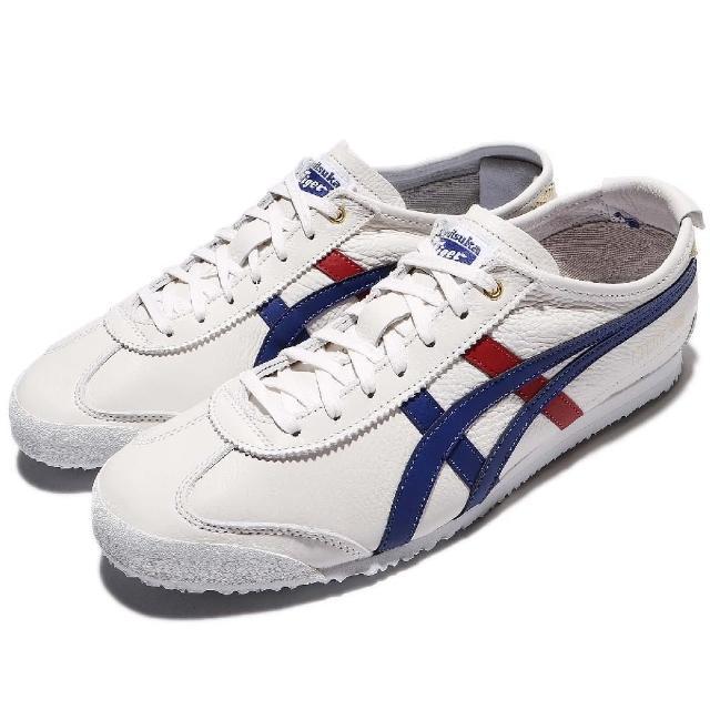 【ASICS】休閒鞋 Mexico 66 情侶鞋 男鞋 女鞋 低筒 復古 穿搭推薦 基本款 男 女 白 藍 紅(D507L0152)