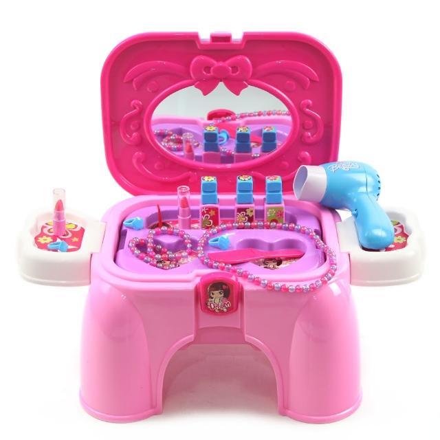 【幼兒玩具】俏麗寶貝化妝台收納椅(可當座椅、辦家家酒遊戲)