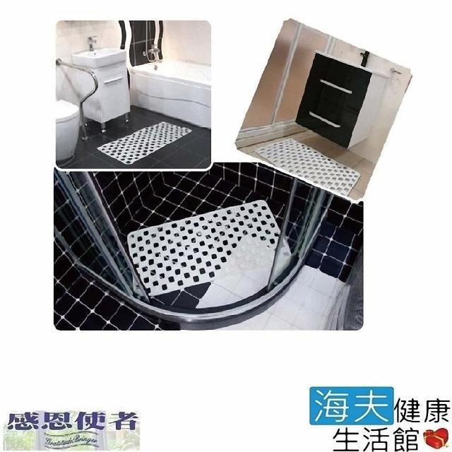 【感恩使者 海夫】PVC止滑墊 格狀吸盤式 耐用型 地板返潮可用(雙包裝)