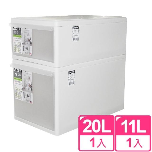 【I。SONA】GD積木式好用抽屜箱2件組(一小一大)
