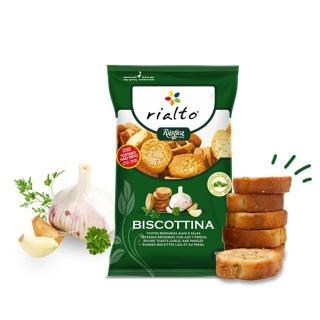【Rialto】非油炸吐司脆餅-蒜味荷蘭芹口味(100g)