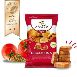 【Rialto】非油炸吐司脆餅-番茄奧勒岡口味(100g)