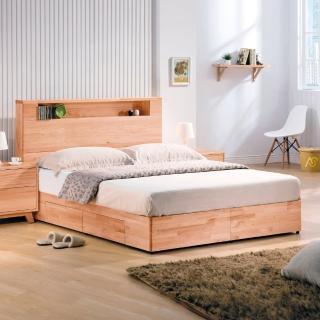 【AS】海瑞雙人5尺實木收納型床