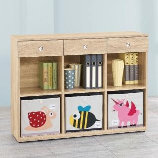 【AS】愛寶耐磨橡木4尺原木色多功能置物櫃-37.5x119.6x90.9