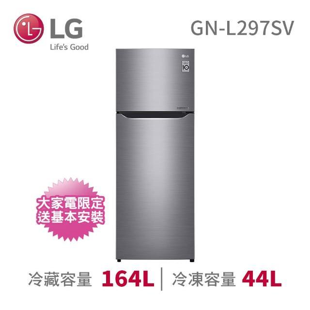 【LG 樂金】3/8-24登記送紅利金★208公升◆一級能效直驅變頻上下門冰箱(GN-L297SV)