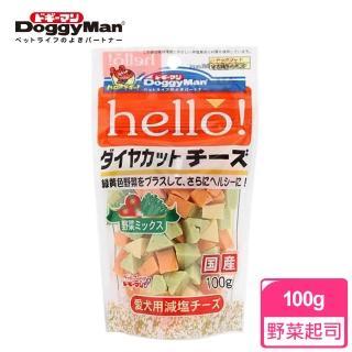 【Doggy Man】犬用Hello角切野菜起司塊 100g(寵物零食)