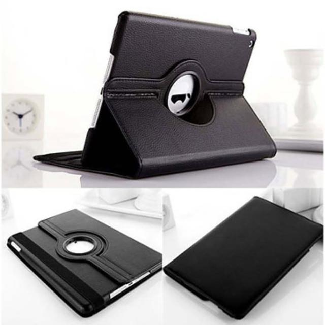 【LOTUS】APPLE iPad2/3/4 旋轉皮套 保護套 荔枝紋