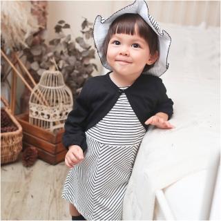 【Baby童衣】夏日微甜條紋洋裝附帽子 70104(共1色)