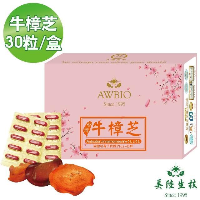 【美陸生技AWBIO】高純度台灣牛樟芝 增強體力(經濟包 30粒/盒 營養補給)