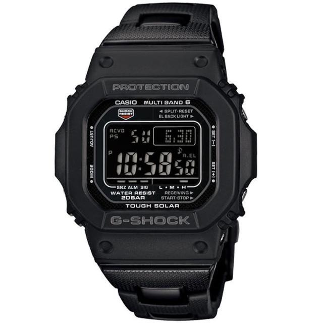 【CASIO 卡西歐】G-SHOCK 高科技經典進化版複合式設計概念電波錶(GW-M5610BC-1)