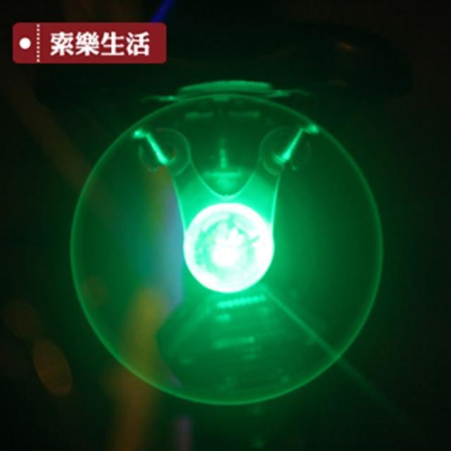 【索樂生活】營繩燈.警示掛尾燈 帳篷掛繩燈(8入 顏色隨機)