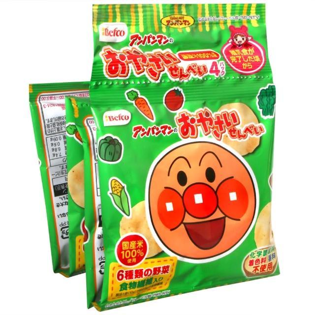 【Befco 栗山】麵包超人4連野菜仙貝(40g)