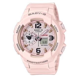 【CASIO 卡西歐】BABY-G 甜美柔和中性風格雙顯錶(BGA-230SC-4B)