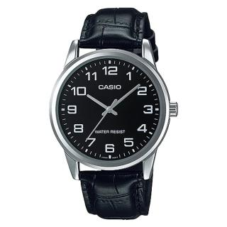 ~CASIO 卡西歐~ 商務型男數字指針真皮腕錶 MTP~V001L~1B