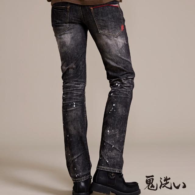 【BLUE WAY】紅布邊低腰直筒褲