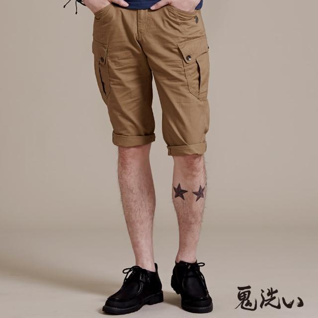 【BLUE WAY】鉚釘鬼頭貼袋七分褲