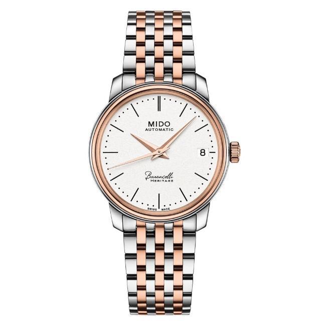 【MIDO 美度】BARONCELLI 永恆系列 III 機械腕錶(M0272072201000)