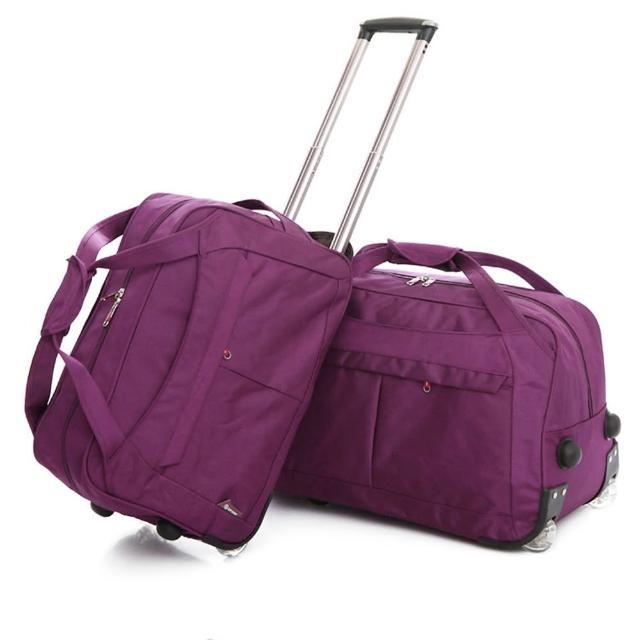 【悅‧生活】GoTrip 微旅行--24吋 韓版秋冬款多隔層登機拉桿收納購物車(24吋 拉桿包 行李箱 購物車)
