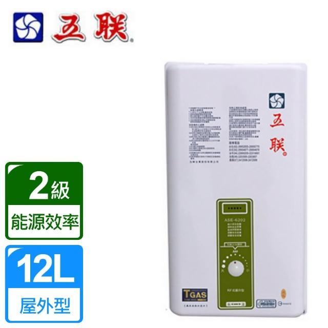 【五聯】戶外設置型熱水器12L RF式(ASE-6202)