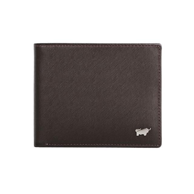 【BRAUN BUFFEL 德國小金牛】HOMME-M紳士系列4卡零錢袋皮夾(咖啡)