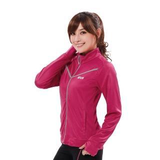 【遊遍天下】女款透氣吸排防風抗UV立領露指外套GJ10008桃紅(M-2L)
