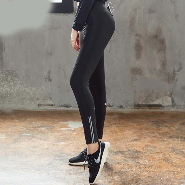 【拉福】反光運動褲瑜珈褲九分褲(單褲子)