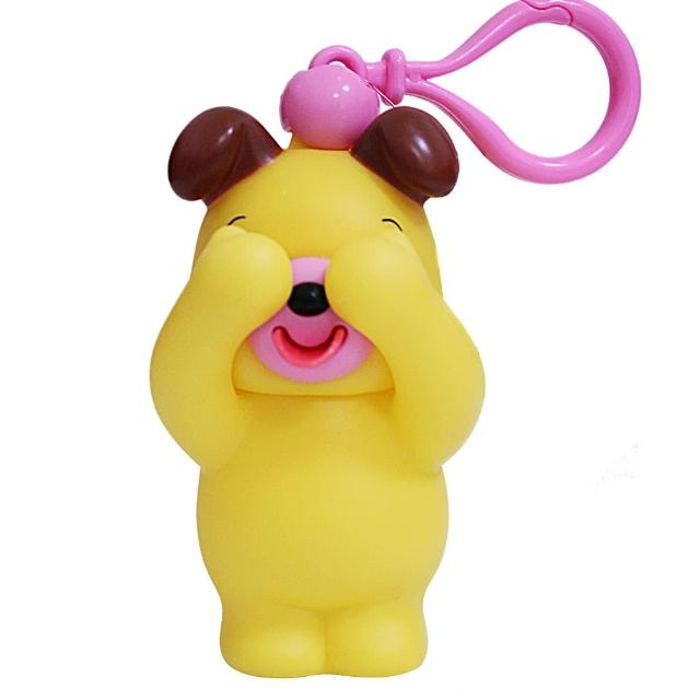 【SANKYORIKEN】日本進口超療癒愛說話動物(遮眼款-小黃狗)