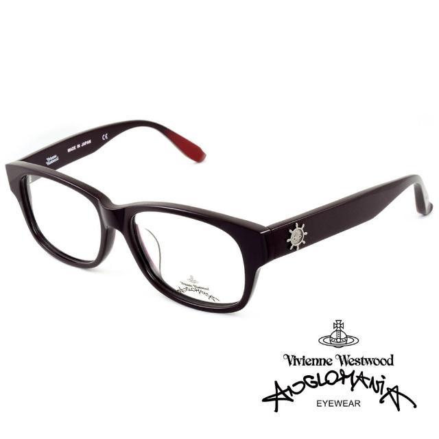 【Vivienne Westwood】Anglomania獨特造型★立體圖案光學眼鏡(深紫紅 AN230-C2)