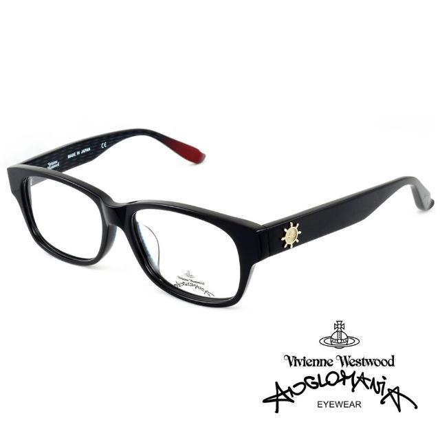 【Vivienne Westwood】Anglomania獨特造型★立體圖案光學眼鏡(黑紅 AN230-C3)