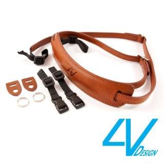 【4V Design】LUSSO-MEDIUM系列相機背帶 MP01B-VV2323-棕/棕色/M(彩宣總代理)