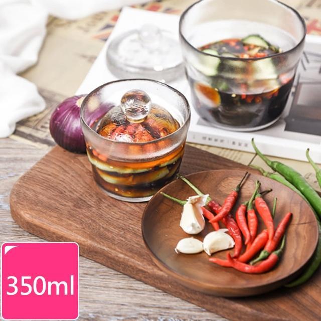 【Homely Zakka】一夜漬淺漬缽玻璃醃漬罐+玻璃重石(350ml)