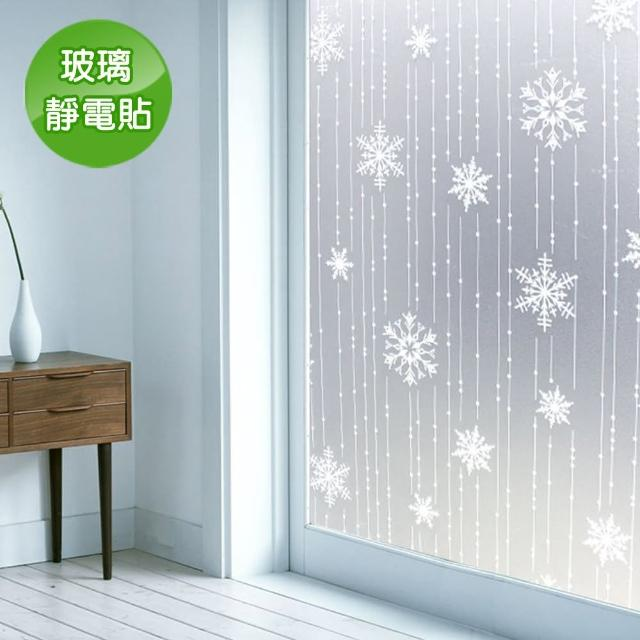 【Conalife】抵抗曝曬! PVC無膠靜電N次貼無殘留玻璃紙(2入)