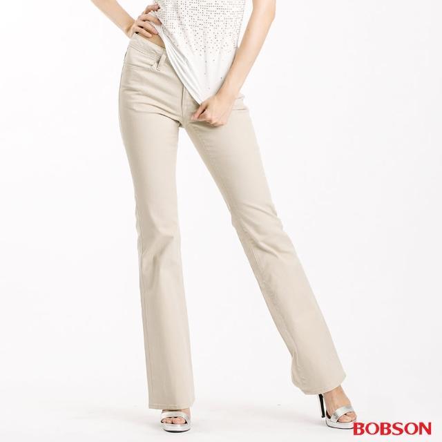 【BOBSON】女款粗經紗萊卡小喇叭褲(943-72)