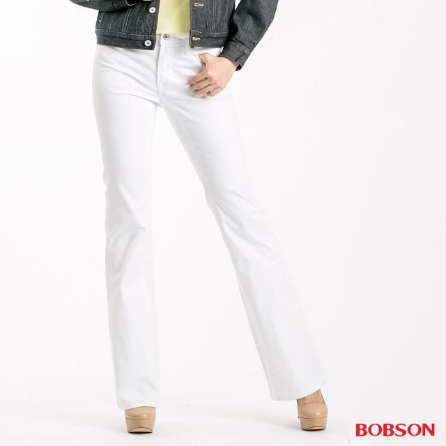 【BOBSON】女款粗經紗萊卡小喇叭褲(943-80)