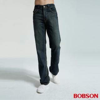 【BOBSON】男款中直筒牛仔褲(1706-77)