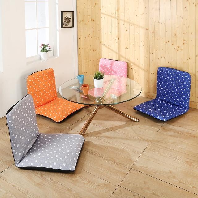 【BuyJM】加大繽紛泡泡六段折疊和室椅(寬51公分)