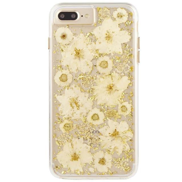 【美國 Case-Mate】iPhone 8 Plus/7 Plus Karat Petals(璀璨真實花朵防摔手機保護殼 - 古典白)