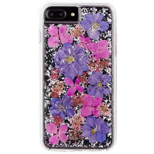 【美國 Case-Mate】iPhone 8 Plus/7 Plus Karat Petals(璀璨真實花朵防摔手機保護殼 - 紫)
