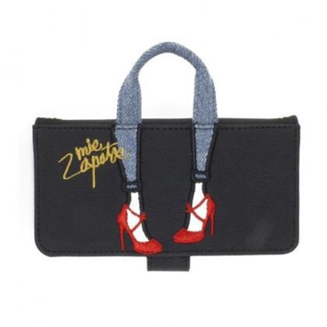 【mis zapatos】新款高跟鞋手提斜背手機殼(mis zapatos台灣總代理-黑色)