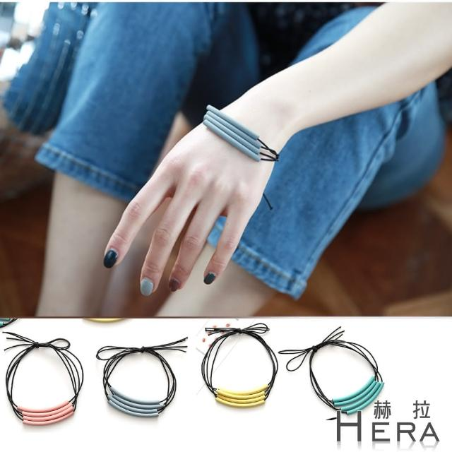 【HERA 赫拉】多層次馬卡龍軟管髮圈/髮束/手鍊兩用(4色)