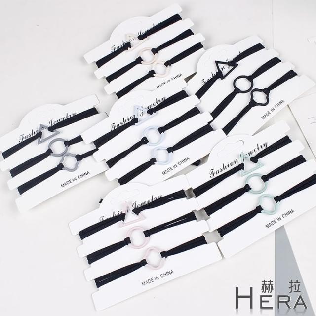 【HERA 赫拉】卡龍幾何多層髮繩/髮圈/髮束(5色)