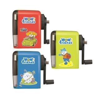 【KW-triO】汪同學大小通用削鉛筆機 030WB(可調筆尖粗細/可使用7-11.6mm鉛筆及色筆/藍綠紅三色)