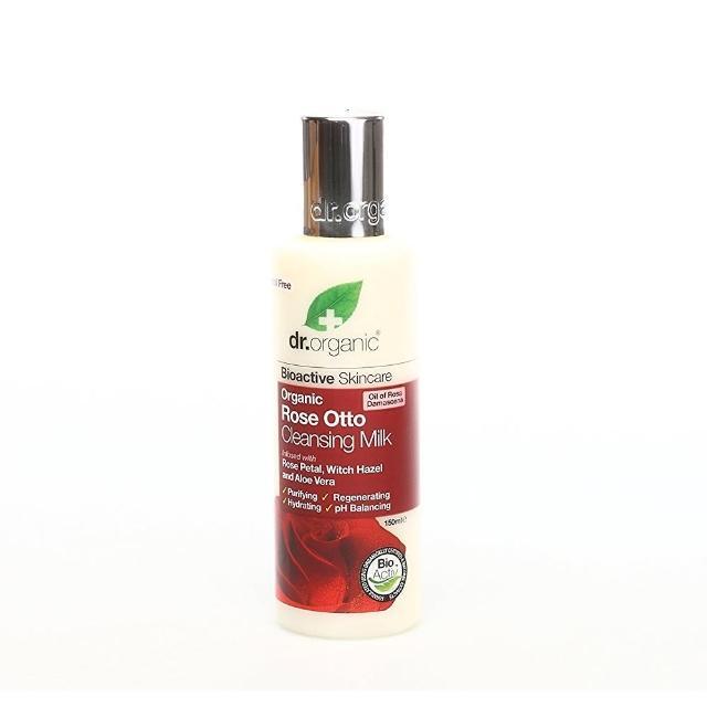 【dr.organic 丹霓珂】奧圖玫瑰極淨卸粧乳-150ml(溫和不含酒精)
