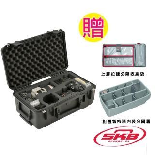 【SKB Cases】滾輪拉柄氣密箱(黑) 3i-20117SLR2