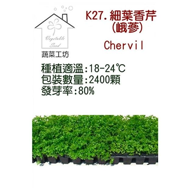 【蔬菜工坊】K27.細葉香芹種子(峨蔘)