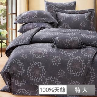 【貝兒居家寢飾生活館】100%天絲七件式兩用被床罩組 帕洛馬(特大)