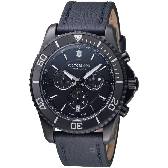 【VICTORINOX 瑞士維氏】MAVERICK潛水計時腕錶(VISA-241786)